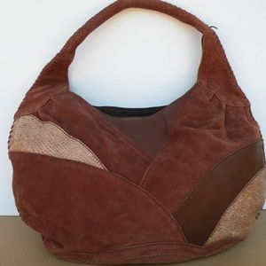 LUCKY BRAND PATCHWORK HOBO